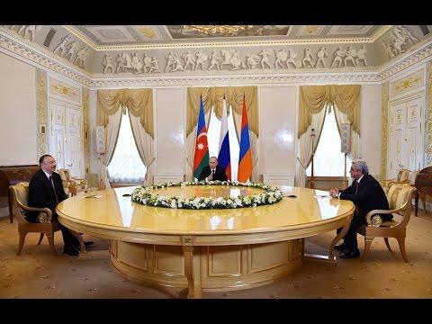 Joint meeting of presidents of Azerbaijan, Russia and Armenia was held in St. Petersburg