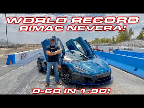 ELECTRIC REVOLUTION * Quickest Production Car EVER * 1,914 HP Rimac Nevera 1/4 Mile Testing