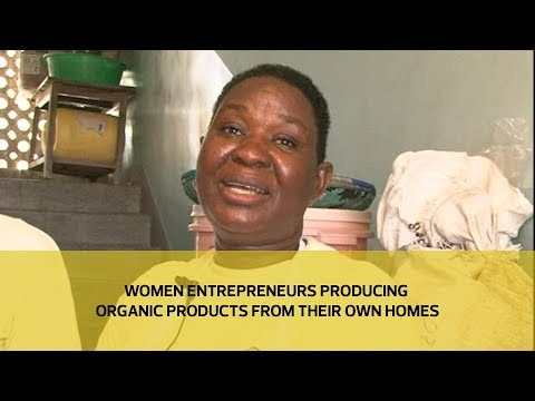 Women entrepreneurs producing organic products from their own homes