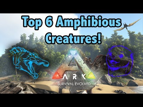 Top 6 Of The Best AMPHIBIOUS Creatures In Ark Survival Evolved!