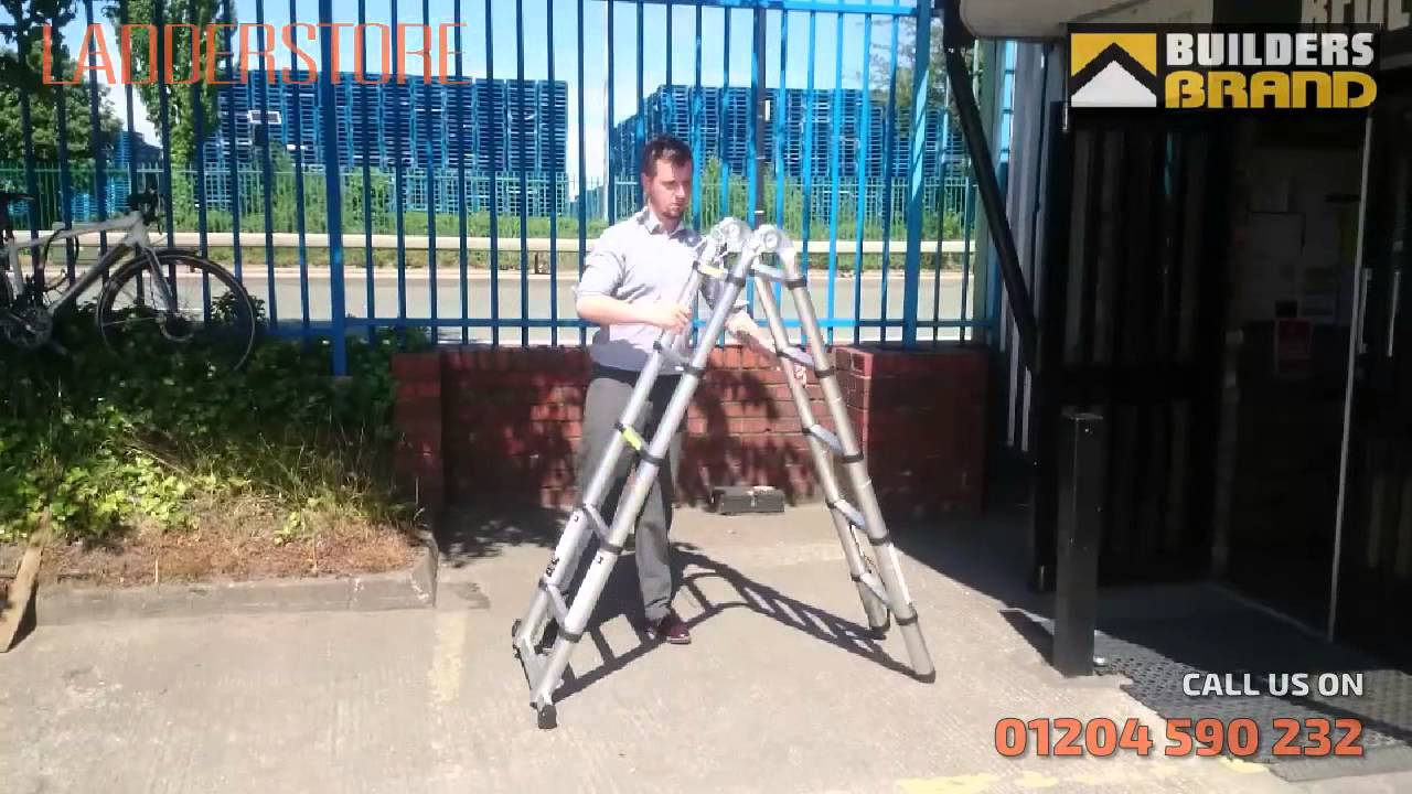 How to use the Builders Brand Multi-Purpose Telescopic Ladder