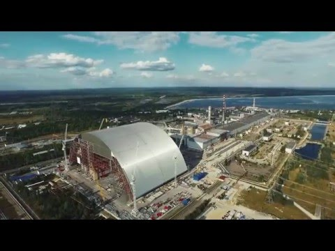 Stunning drone footage of the Chernobyl sarcophagus boasting ArcelorMittal steel