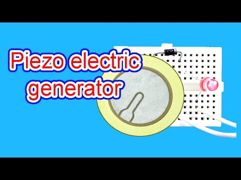 Piezo electric generator|how to make