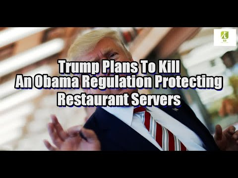 Trump Plans To Kill An Obama Regulation Protecting Restaurant Servers