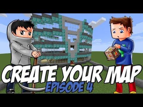 Create Your Map | Hôtel + Une histoire de lampadaire | Episode 4 / Minecraft
