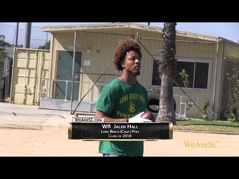 Jalen Hall in action at the Long Beach Poly College Showcase