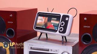 Món đồ chơi Decor trang trí cho Dàn âm thanh khi chơi AUX - Loa Bluetooth kiểu dáng tivi hoài cổ