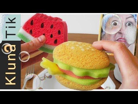 EATING SPONGES!! Kluna Tik Dinner #102 | ASMR eating sounds no talk