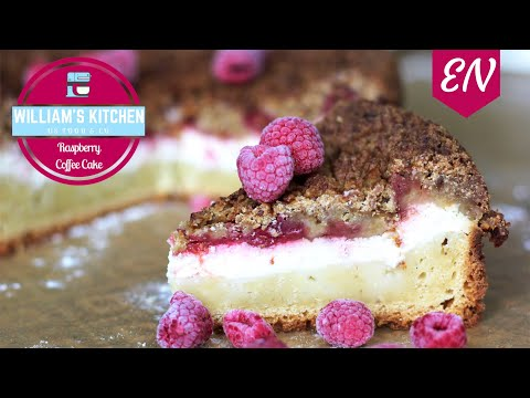 Raspberry Cheesecake Coffee Cake Recipe || William's Kitchen