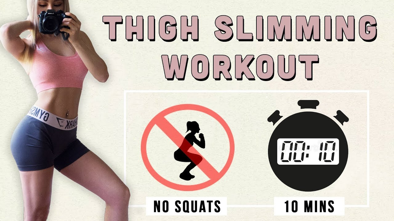 10 Min Thigh Slimming Workout | Toned Butt | Burn Inner & Outer Thighs Fat | NO SQUAT