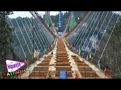 World's Longest, Highest Glass Bottom Bridge Under Construction In China || Pastimers