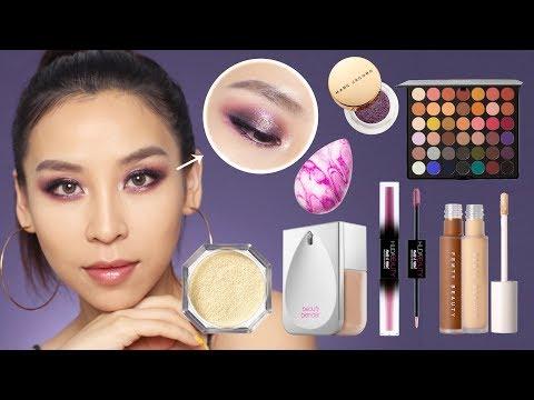 FULL FACE OF NEW MAKEUP 2019- Fenty, Huda, Beauty Blender thumbnail