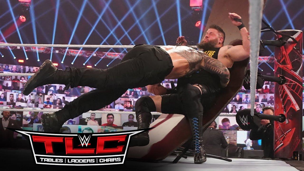 Roman Reigns splinters Kevin Owens with a Spear: WWE TLC 2020 (WWE Network Exclusive)