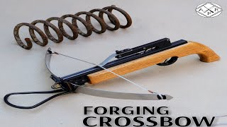 Forging a CROSSBOW out of Rusted Coil SPRING