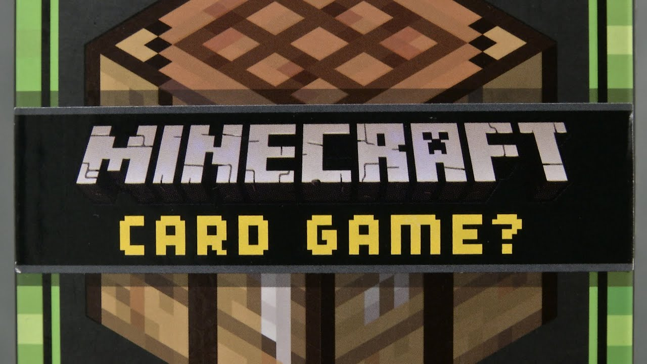 Card For Minecraft Pc Game : Minecraft card game from mattel youtube