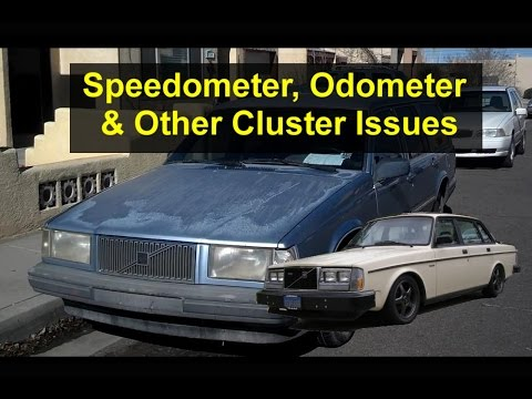 How To Repair Instrument Cluster Issues, Broken Speedometer, Etc., Volvo 740, 240, 940 - VOTD