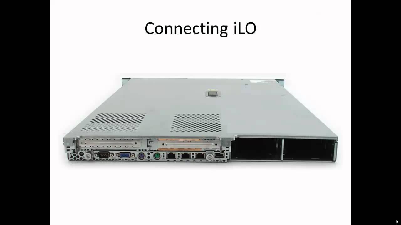 HP ProLiant DL360 G4 - Configuring HP iLO