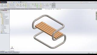 3D Sketch Bank Swept Boss Solidworks 2015