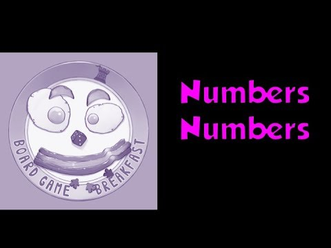 Board Game Breakfast - Numbers Numbers