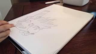 Timelapse drawing, food fight, Skylanders trap team