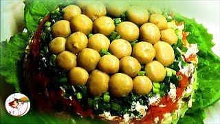 ГРИБНАЯ ПОЛЯНА. Оригинальный праздничный салат.