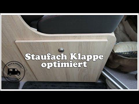 Staufachklappe unter der Sitzbank optimiert - Clever Vans - Kastenwagen