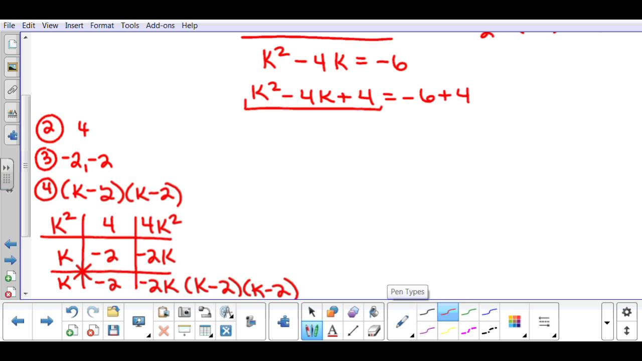 Completing the square with negative square roots youtube completing the square with negative square roots ccuart Choice Image