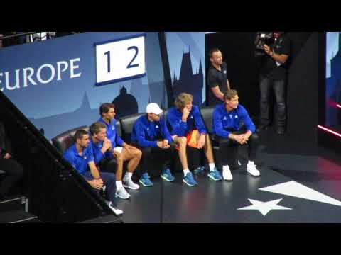 Laver Cup Team Europe's reactions during Federer vs Kyrgios (2)