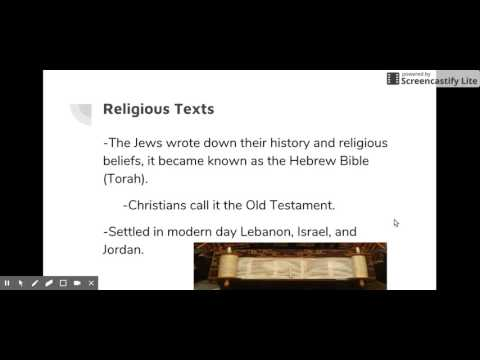 First Israelites Cornell Notes: Slide 2- Religious Texts