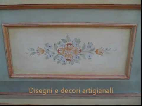mobili decorati a mano baule cassapanca in stile tirolese