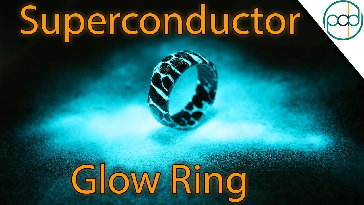 Making A GLOWING Acid Etched Superconductor Ring With