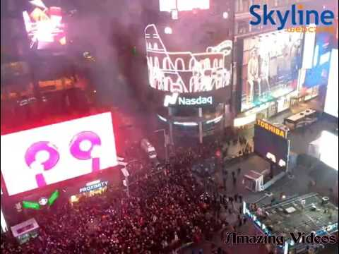 New York Times Square Ball Drop Fireworks 2017  Manhattan New York New Years Eve