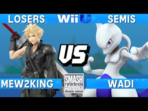 Smash 4 Wii U - Mew2King (Cloud) vs WaDi (Mewtwo) - SMASHADELPHIA 2017 Losers Semis