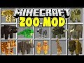 Minecraft ZOO MOD | CATCH WILD ANIMALS AND BUILD YOUR OWN MINECRAFT ZOO!!