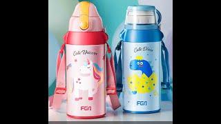 어린이 보온 보냉 대용량 컵 빨대 팝업 물병 600ml…
