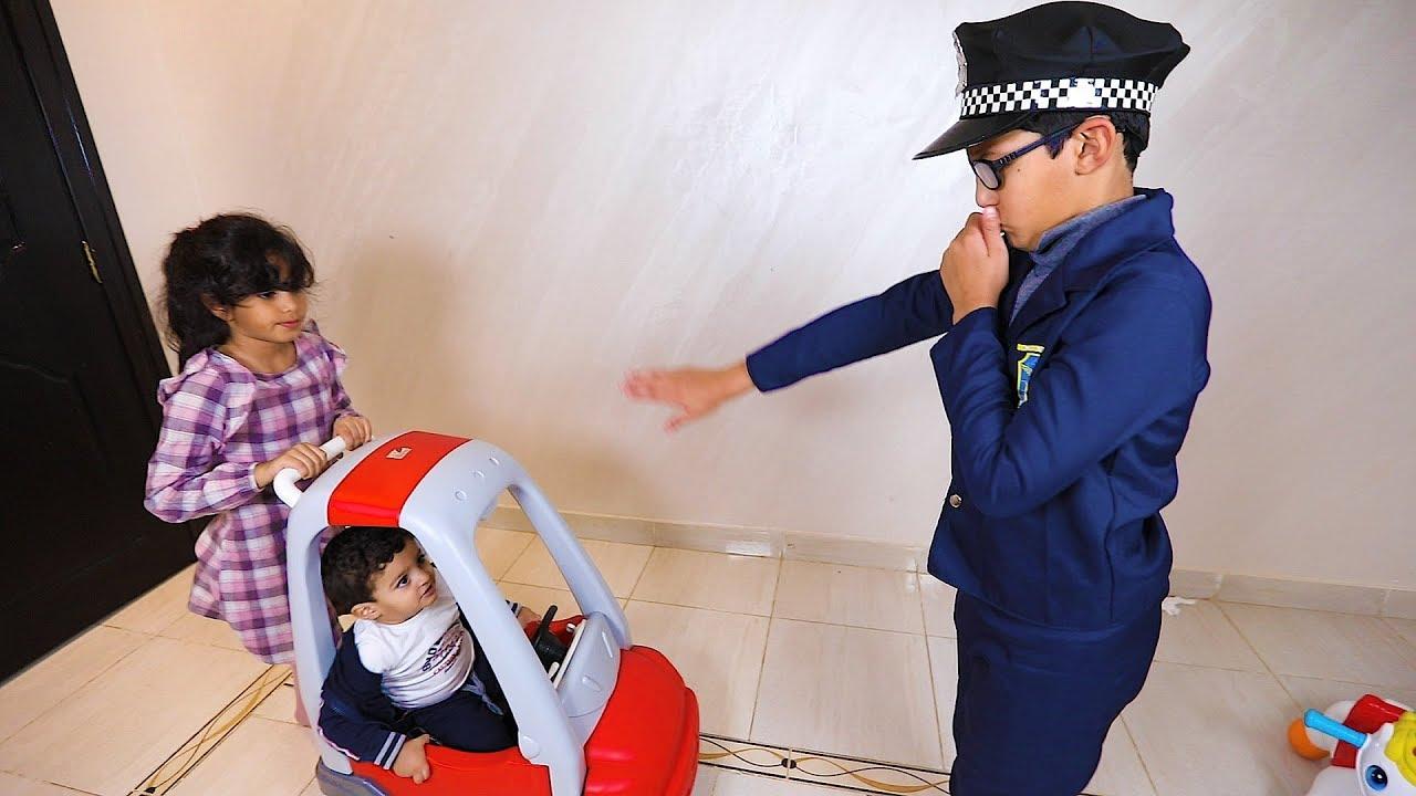 الشرطي سكرعليهم الخط سيارة عبودي وجلدوه لانا وعبودي Youtube
