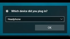 """How to disable """"Which device did you plug in?"""" prompt?"""