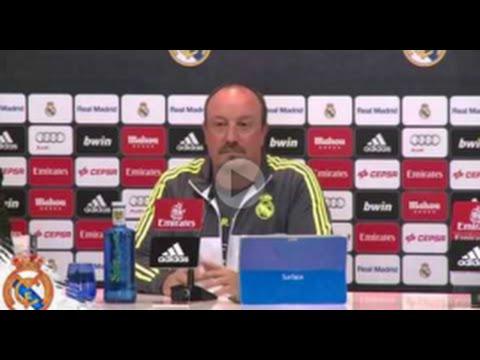 Rafa Benitez se enoja cuando le preguntan por Cristiano Ronaldo , Laurent Blanc & El PSG