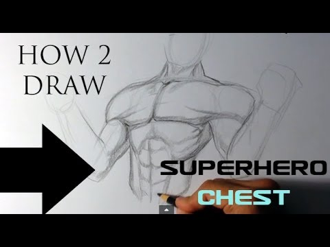 How to Draw a Superhero - Chest - Easy Drawings