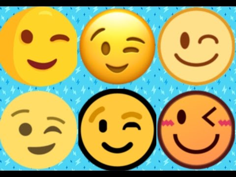 Winking smiley face meaning  What Do All The Face Emoji Mean