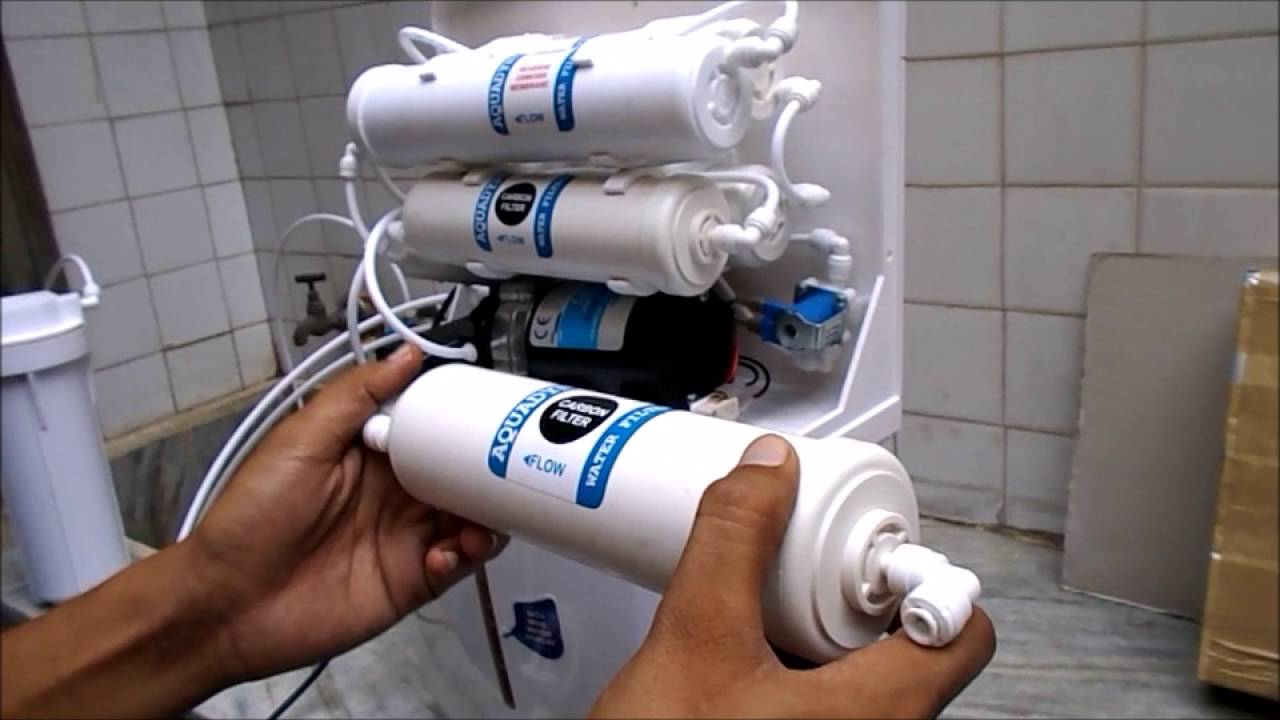 Filter Cartridges Installation Ro Service Two Carbon And One Process Flow Diagram Reverse Osmosis Plant Sediment Youtube
