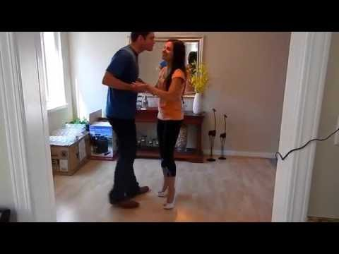"""Wedding First Dance Rehearsal, Foxtrot with Swing Fusion to the song """"Whatever It is"""" by Zac Brown."""