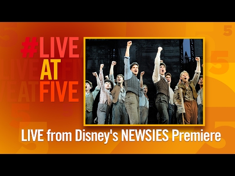 Broadway.com #LiveatFive at the NEWSIES Movie Premiere