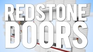 Minecraft: Top 5 Simple Redstone Doors And Trapdoors