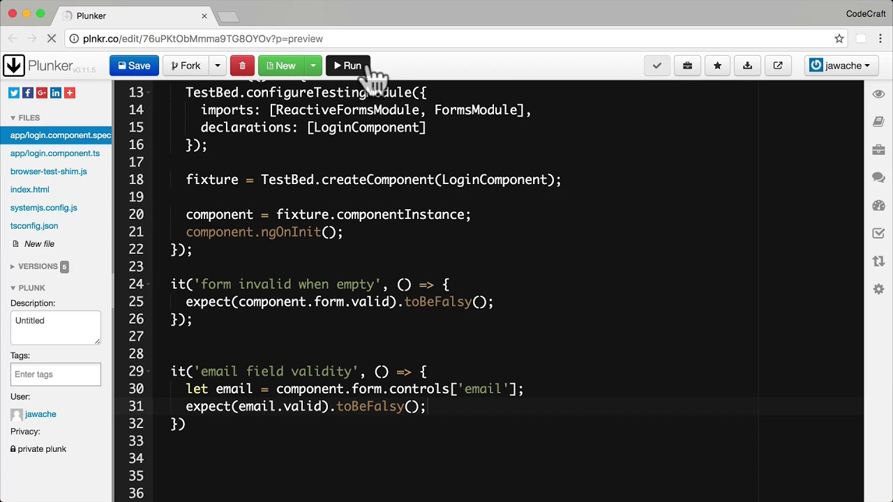 Testing Model Driven Forms • Angular