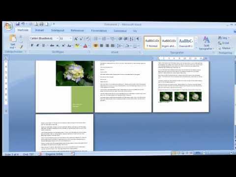 Hvordan Du Laver En Hurtig A5 Folder I Word Youtube