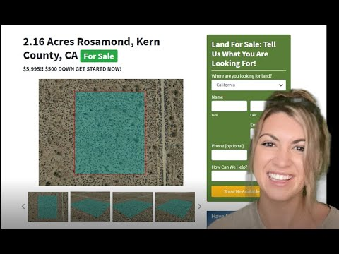 2.16 Acres Rosamond Properties - Land For Sale in Rosamond Kern County, California
