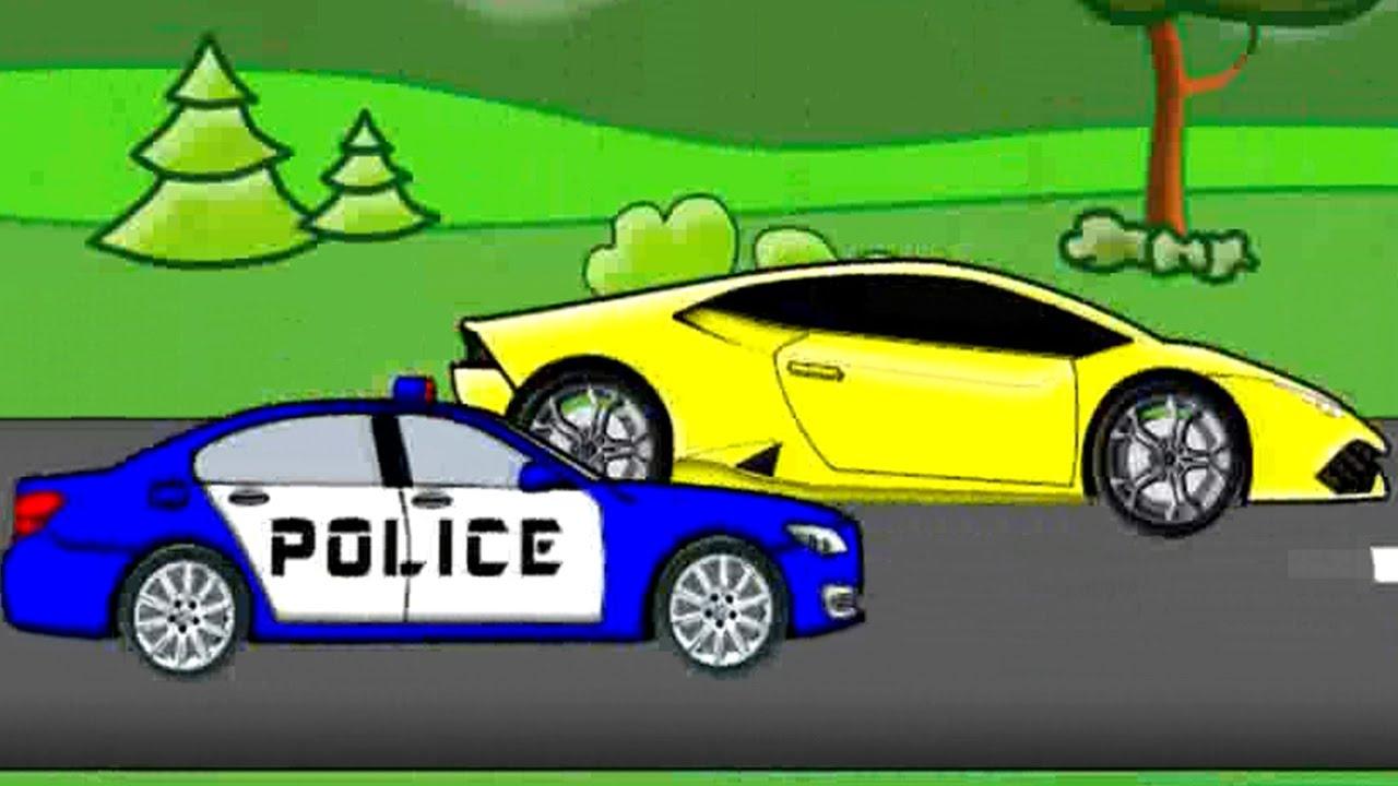 Policja Pościg Bajka Dla Dzieci Auta Police Chase Fairy Tales