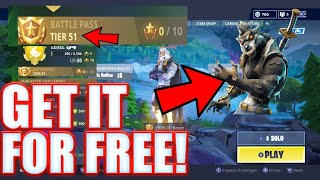 FORTNITE: HOW TO GET MAXED OUT DIRE WOLF FOR FREE! *GOT PATCHED*