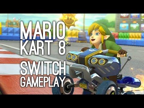 Mario Kart 8 Switch Gameplay: Let's Play Mario Kart 8 Deluxe 4-Player Battle - FIREBALL BARRAGE